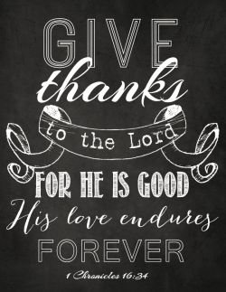 Give Thanks to the Lord (free printable)