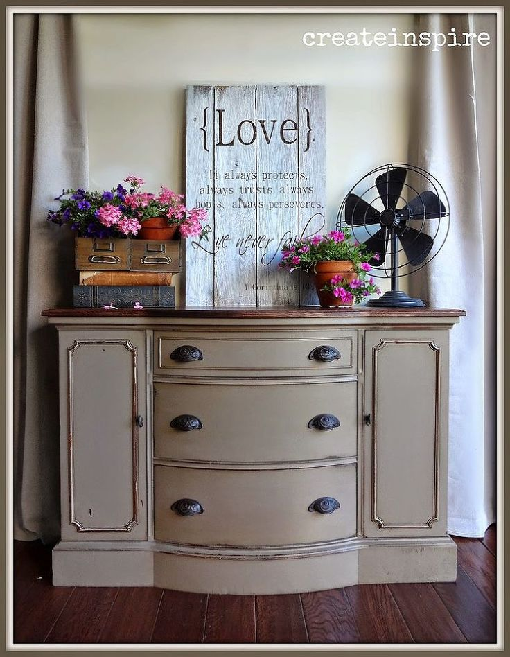 refinished bow front buffet painted furniture on fantastic repurposed furniture projects ideas in time for father s day id=40700