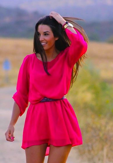 Beautiful color <3 #dress, #pink, #red, #summer, #outfit, #fashion