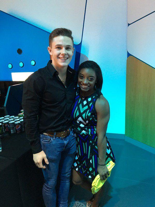 Simone Biles and fellow gymnast Brinn Bevan