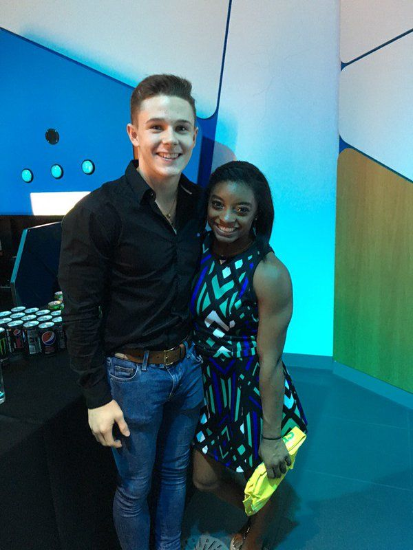 Simone Biles and fellow gymnast Brinn Bevan