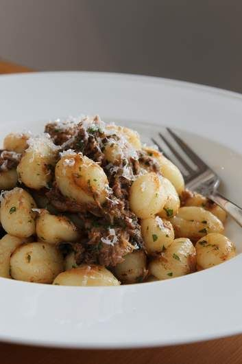 Gnocchi with pork ragu.
