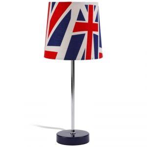 lampe poser avec abat jour drapeau britannique jack idal comme lampe de chevet