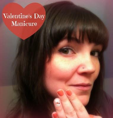 valentine day nails art