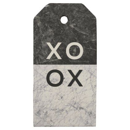 XO XO WOODEN GIFT TAGS - minimal gifts style template diy unique personalize design