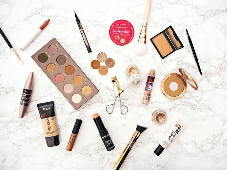 My Most-Loved Makeup | Drugstore    #ukblogger #flatlay #bbloggers #bblogger #beautyblogger #makeup #makeupaddict #drugstoremakeup #nyx #zoeva #loreal #sleekmakeup #kiko #maybelline #soapandglory #bourjois #topshopbeauty #makeupgeek #colourpop #eyeshadow #blush #concealer