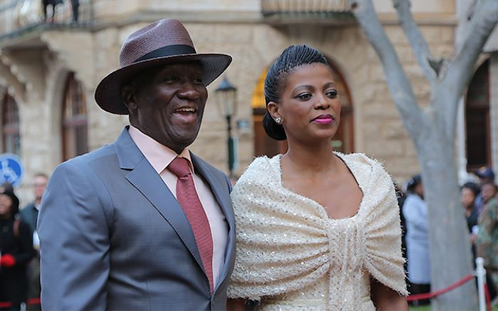 Bheki Cele And His Wife Thembeka Chose Muted Dusty Tones