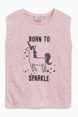 Buy Pink Born To Sparkle T-Shirt (3-16yrs) online today at Next: United States of America