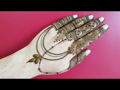 Fancy Jewellery Henna Design Mehndi Design For Back Side 2018