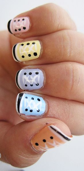 Easy Converse Sneaker Nails