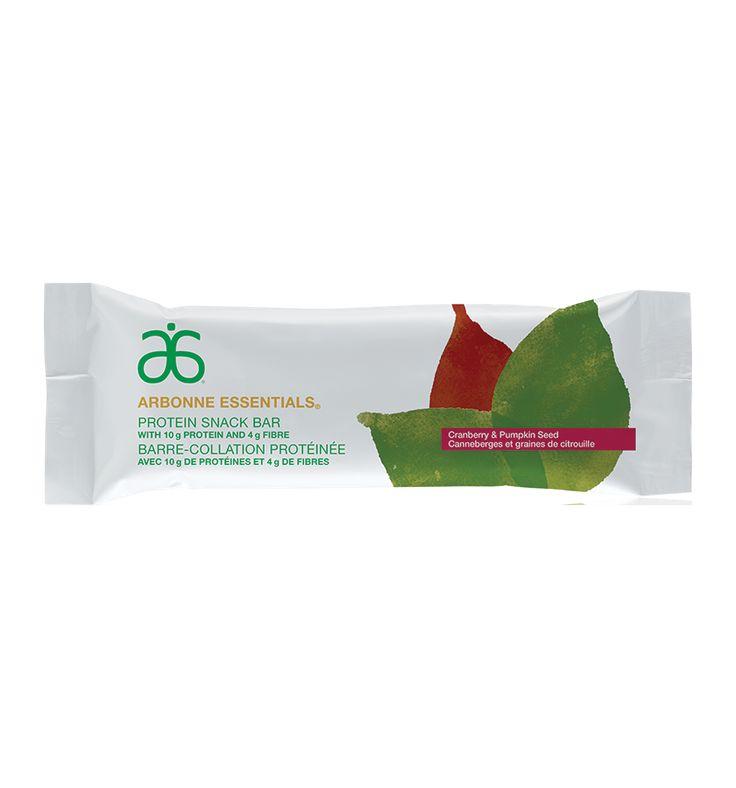 Barre-collation protéinée Arbonne Essentials® – Canneberges et graines de citrouille #6098 - Arbonne