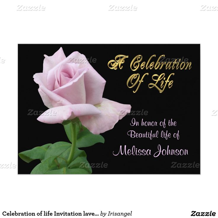 106 best Celebration of life Invitations images on Pinterest