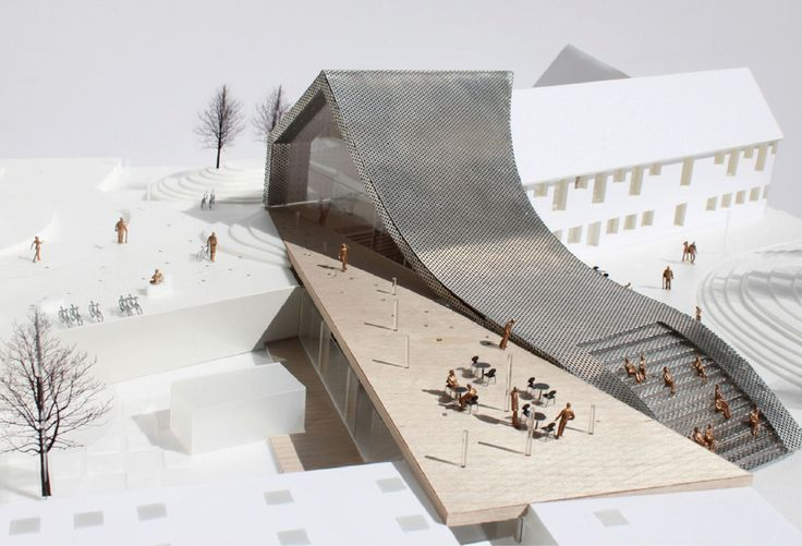 Maquette WE architecture  Mariehøj culturcenter, Holte, Denmark, in progress