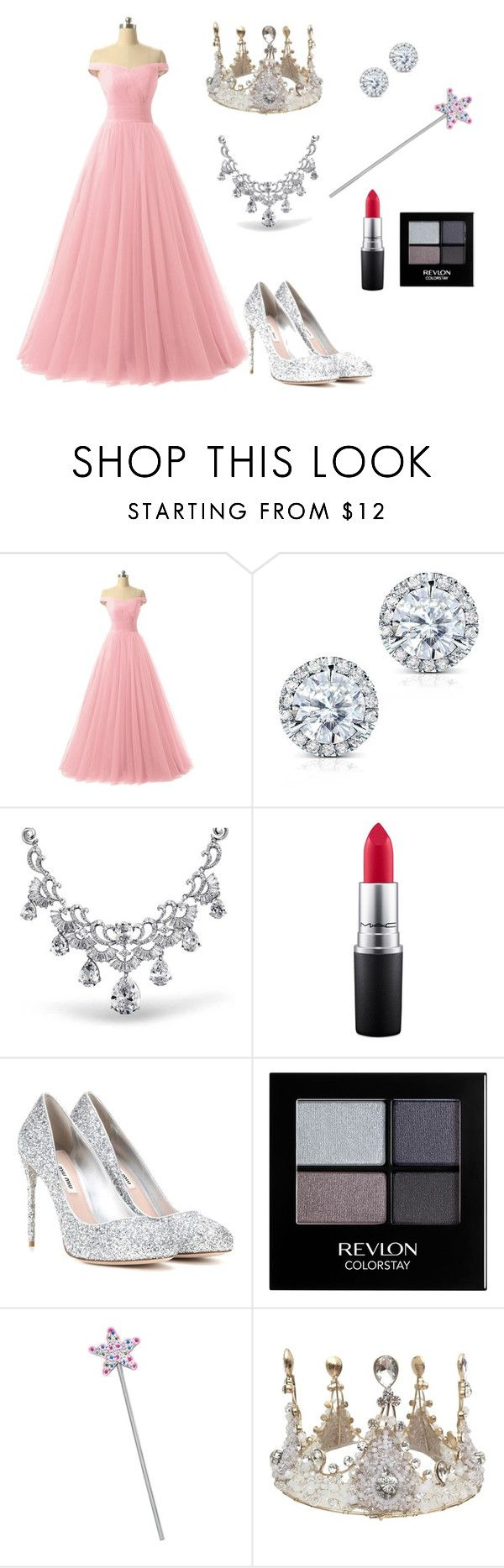 """""The Wizard of Oz"" Glinda Costume"" by oliviaf14 on Polyvore featuring Kobelli, Bling Jewelry, MAC Cosmetics, Miu Miu and Revlon"