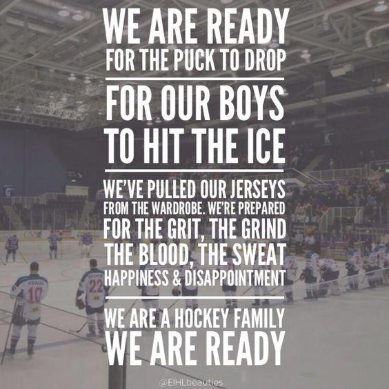 I love ice hockey!: