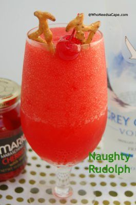 Naughty Rudolph - a gingery, cherry vanilla adult beverage