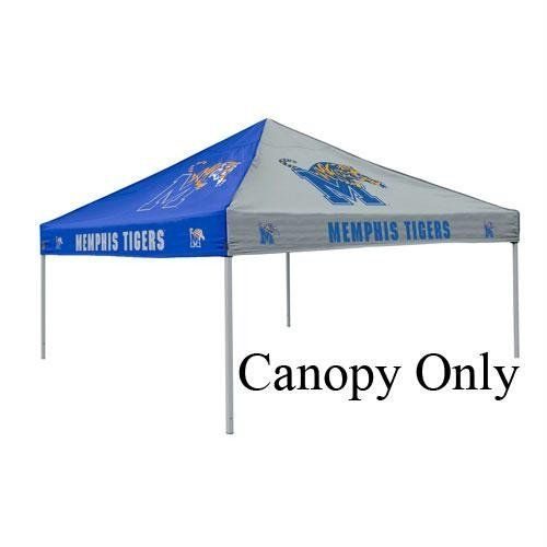 Memphis Tigers NCAA Pinwheel Canopy by Logo. $109.88. Large 9' x 9' area two-color canopy tent with school logos on all four sides (does not include tent frame). School?s two primary color alternate on each side of canopy. Durable water resistant canopy made of 200 denier polyester with school logos on all f