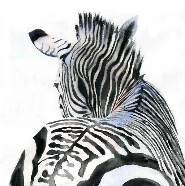 Zebra Art Print of Watercolor Painting Safari Africa by rachelsstudio on Etsy https://www.etsy.com/uk/listing/78635522/zebra-art-print-of-watercolor-painting