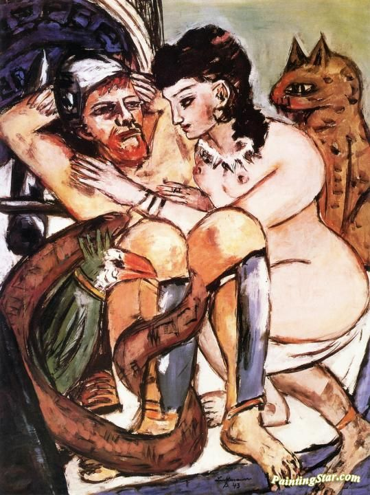 Odysseus and Calypso Artwork by Max Beckmann Hand-painted and Art Prints on canvas for sale,you can custom the size and frame