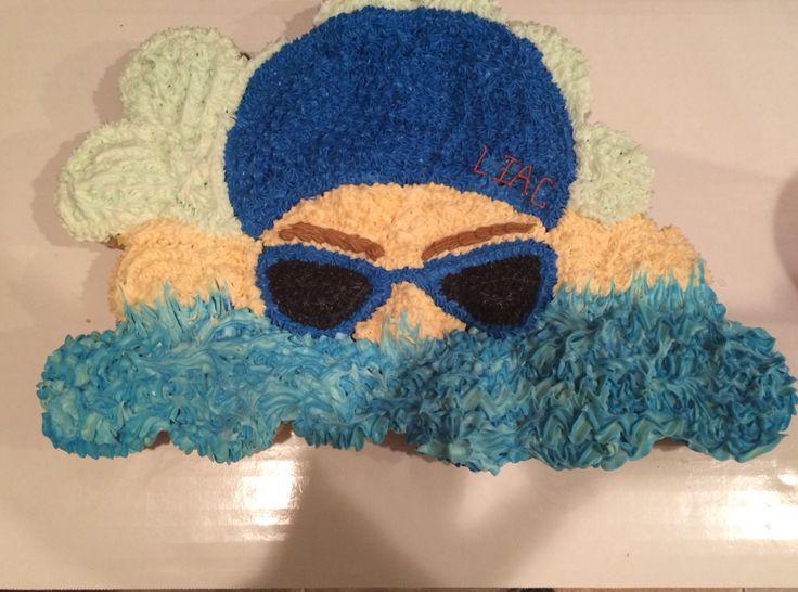 Swimmer Cupcake Cake