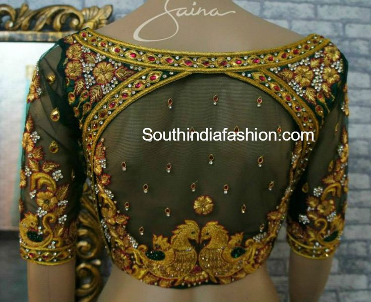 net embroidered blouse designs 600x489 photo