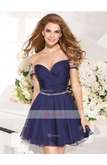 A-Line Sweetheart Zipper Short/Mini Organza Sleeveless Cocktail Dresses