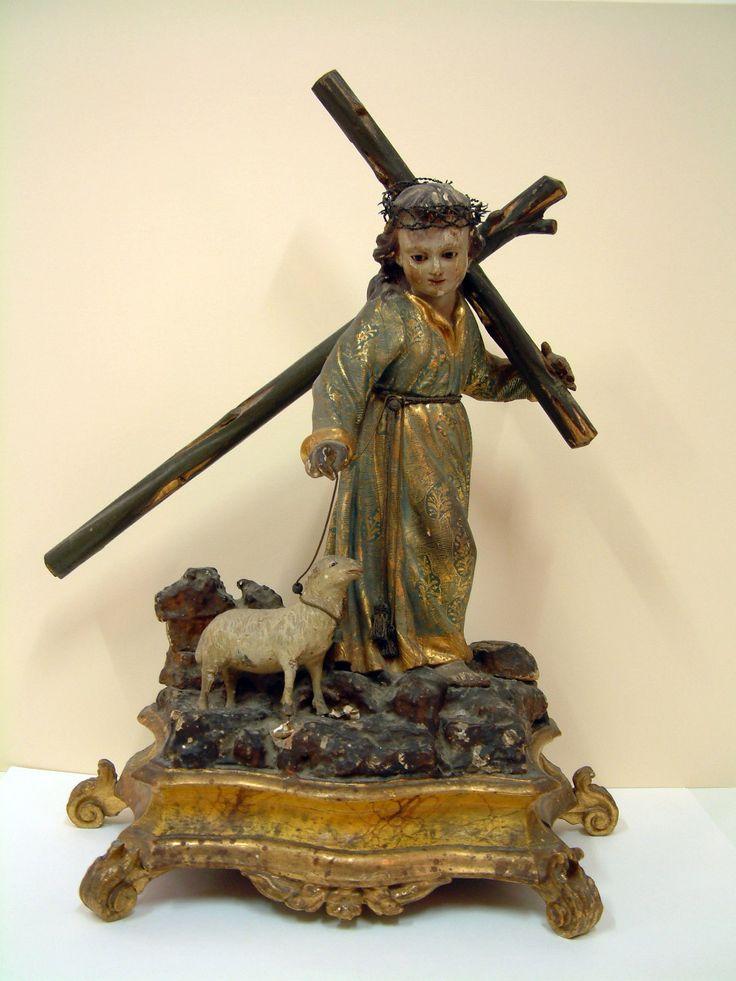 Escultura en madera policromada, niño Jesús de pasión (Iglesia de Santiago, Almería)