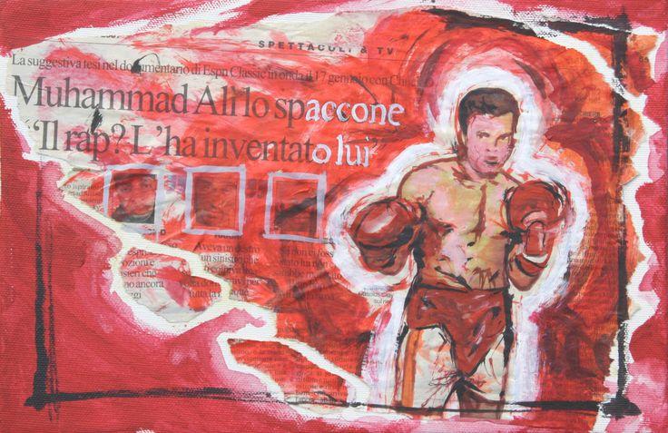 dedicato a Mohamed Ali'...opera di Massimo Amadesi