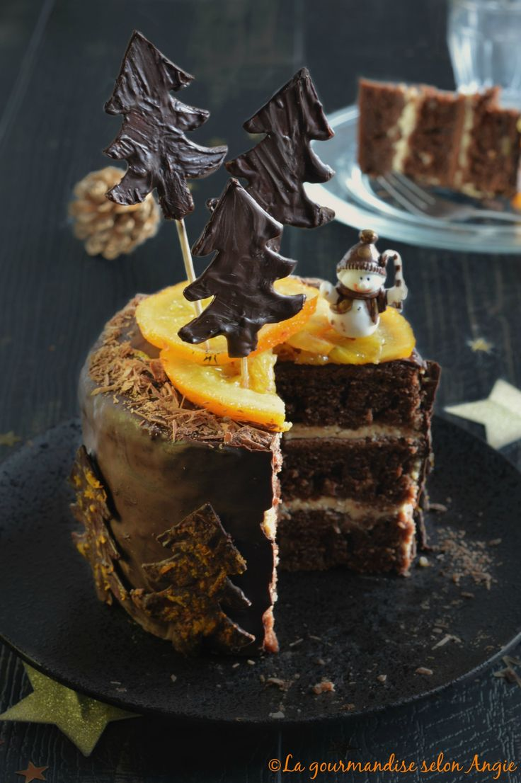 layer cake vegan chocolat orange noël 1