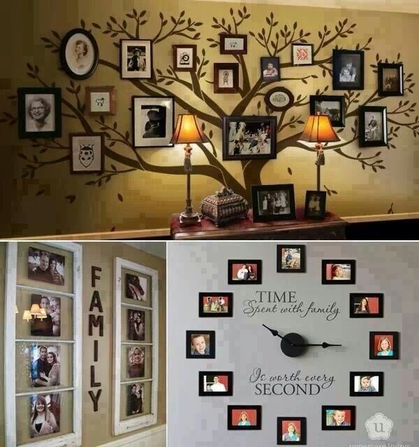 What a lovely way to display family memories!