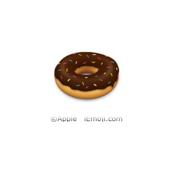 Doughnut ❤ liked on Polyvore featuring emojis, fillers, extra and emojis // transparent