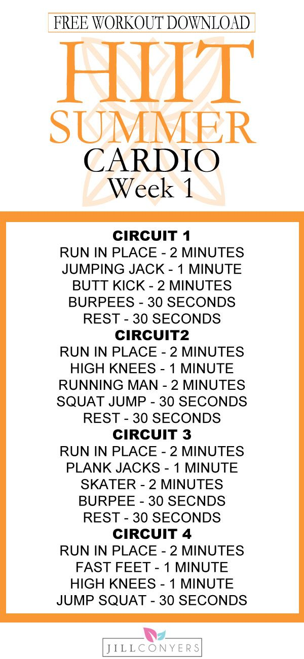 FREE HIIT Summer Workout Series! We'll work together this summer and set ourselves up for fitness success. You bring the determination, commitment and a never give up attitude. I'll provide the support, tools, motivation and workouts you need. Target every part of your body and burn calories in about 30 minutes. Pin it now. Download the free cardio and strength workouts, fitness tracker and exercise index.