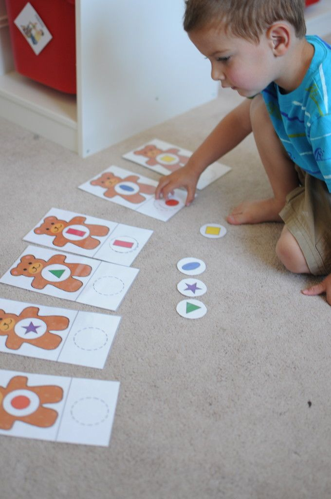 shape sorting bear toddler tray or busy bag activity