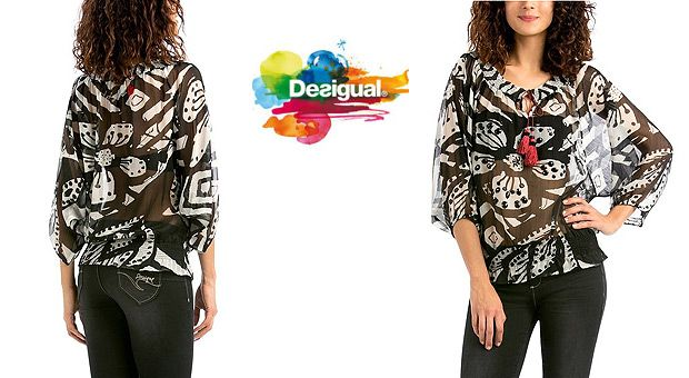 ¡Chollo! Blusa Desigual modelo Blus Montse barata 24,95 euros - 49% Descuento - http://www.clubchollos.com/chollo-blusa-desigual-modelo-blus-montse-barata/ - Si ya andas buscando algo de ropa bonita y de calidad para ampliar tu armario de cara a la próxima primavera, aprovecha esta oportunidad porque acabo de encontrar esta blusa Desigual modelo Blus Montse por sólo 24,95 euros en Amazon España. Esto significa que vas a recibir un descuento del 49% so...