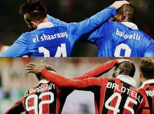 Stephan El Shaarawy &  Mario  Balotelli