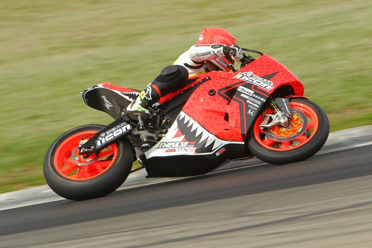 Steve Atlas testing the 2013 Empulse RR in ICON designed Sauvetage livery.