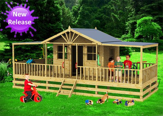 Brisbane Deluxe cubby house, cubby house australia, cubby houses for sale, cubby houses