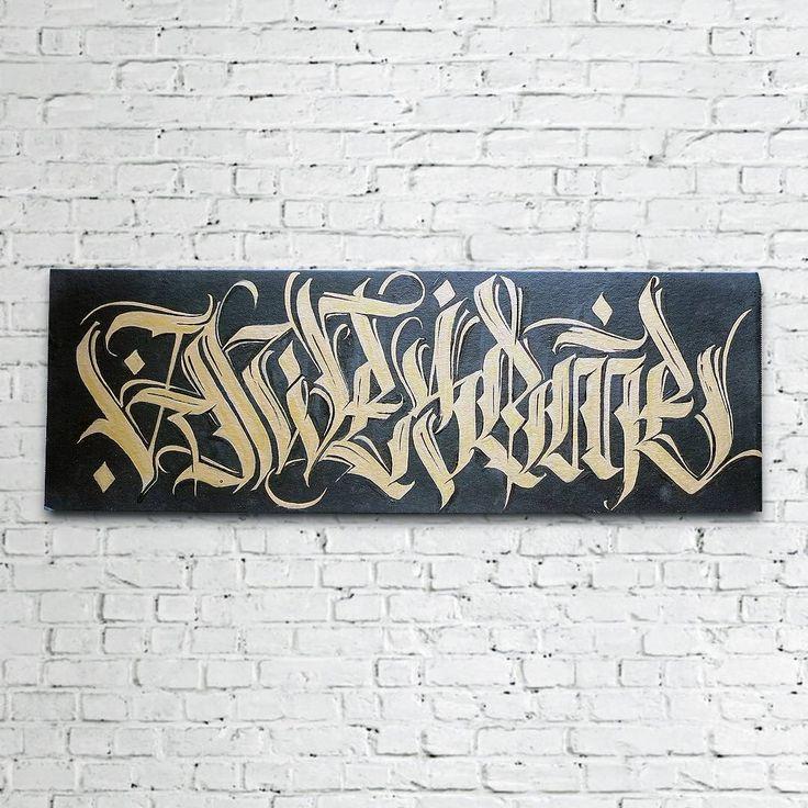 """Прошлогодний небольшой холст со шрифтом """"Awesome"""". Кстати продаётся. Картон, примерно полметра в длину. Предложения по цене, если кого то заинтересует - в комменты. Как обычно - локация Нижний Новгород.  #nnov #nntoday #lettering"""