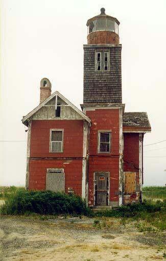 Abandoned lighthouse, Mispillion, Delaware