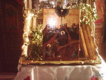 NASTEREA DOMNULUI  DIMENSIUNI  :  29x 20 cm,    tempera pe lemn ANUL 2003  LOCATIE pana in 2007:  BISERICA ADORMIREA MAICII DOMNULUI-DIHAM,BUCURESTI, preot paroh CONSTANTIN CHILIANU(+2007), parinte duhovnic.
