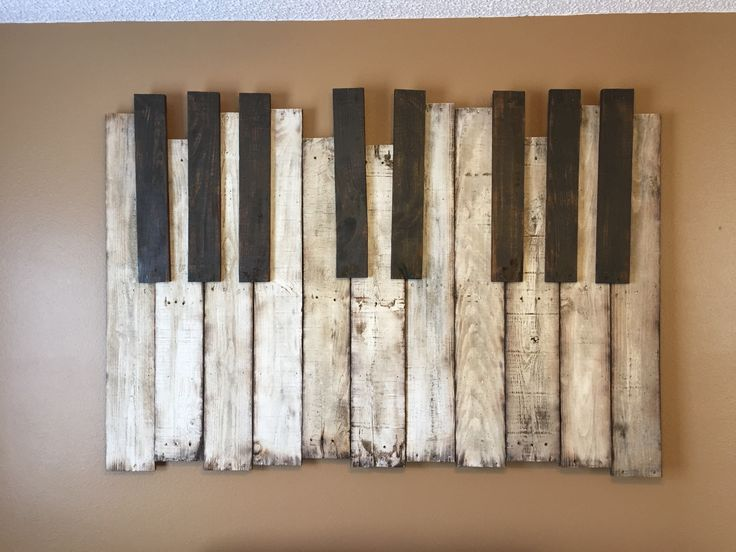 Haunted Mansion Piano Wall Art Piece, Pallet Wood, ~6'x4
