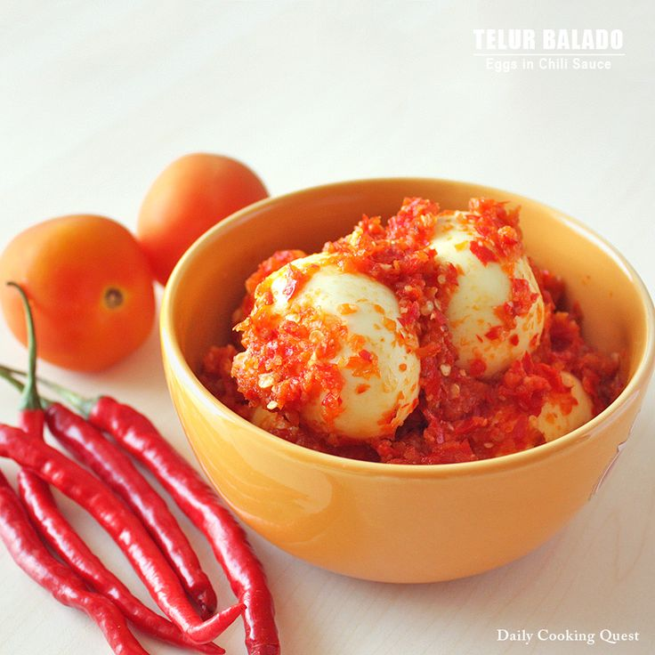 Telur Balado – Eggs with Chili Sauce