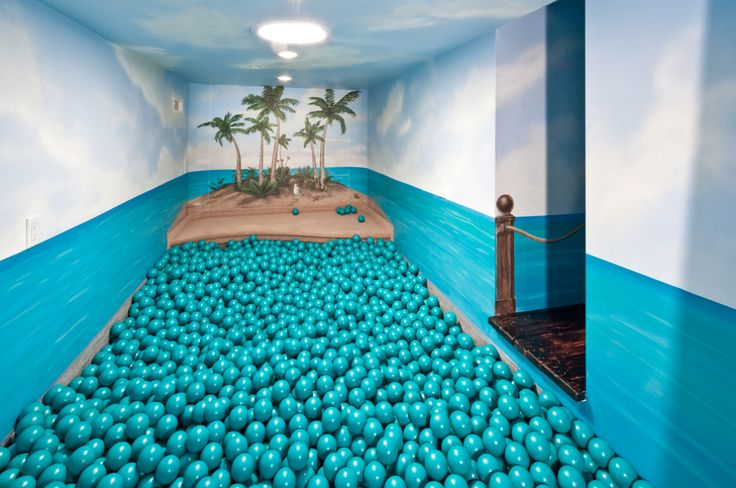 The kids' own private ball room - or in this case, ball ocean...