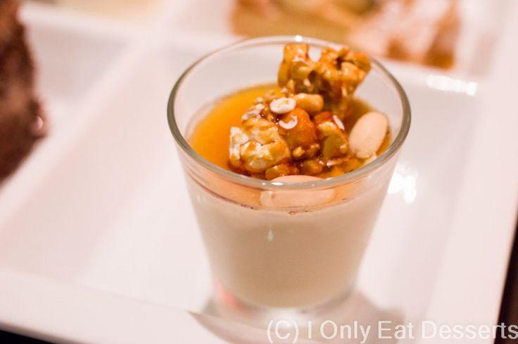 Peanut Butter and Caramel Popcorn Panna Cotta