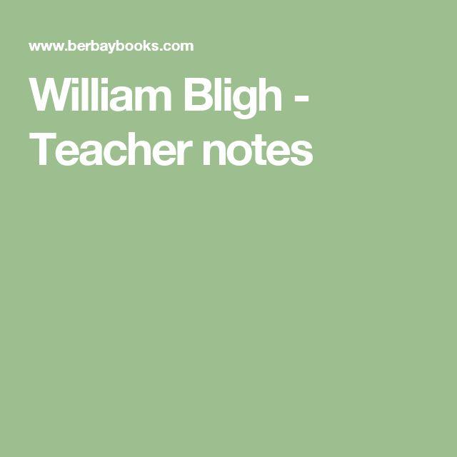 William Bligh - Teacher notes