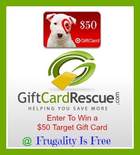 NEW #giveaway: Enter to #win a $50 #Target gift card from Gift Card Rescue   - Save on gift cards for your big projects wyb at Gift Cards Rescue or sell your unwanted gift cards.