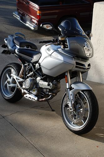 2004 Ducati Multistrada, sold in 2008. I loved this bike at the time and I think that it still looks interesting today. But generally speaking, these are minority opinions.
