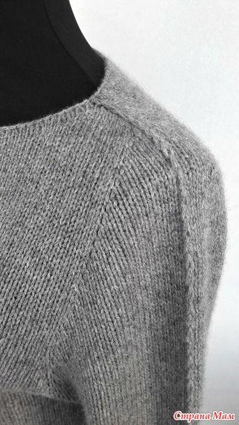 Простой пуловер спицами Friday Again by Ankestrick - Вязание - Страна Мам