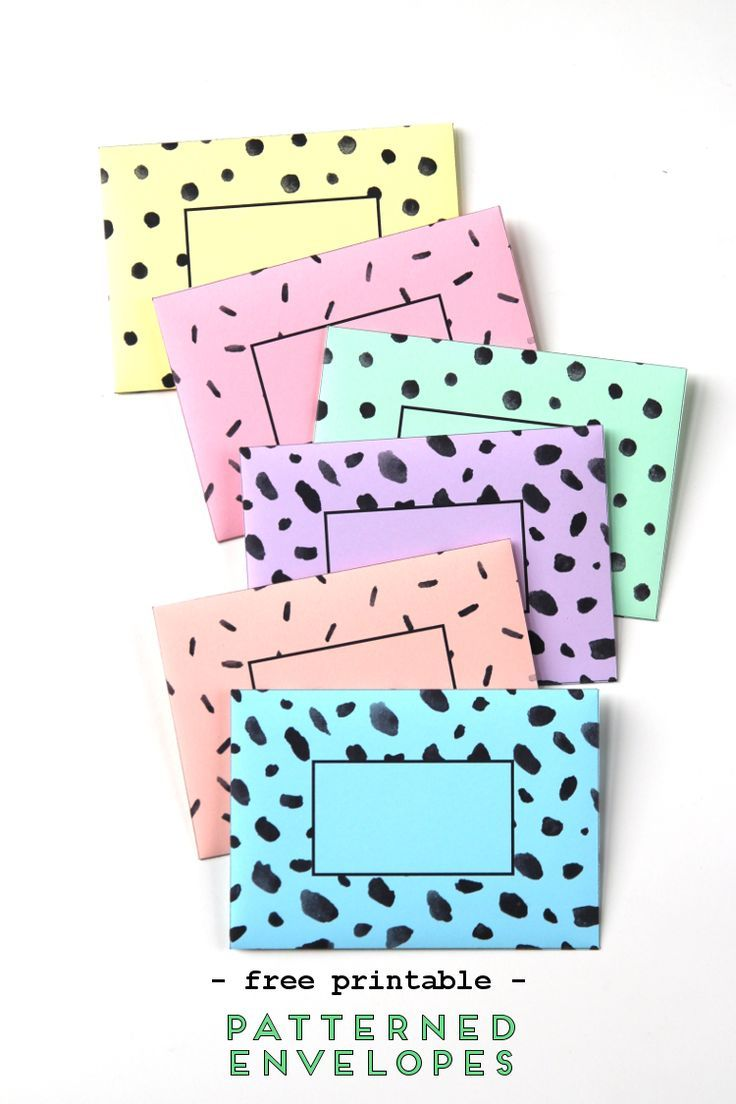 Patterned Envelopes Free Printable Diy Greeting Cards