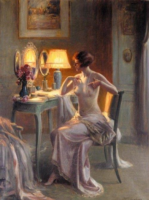 Женщина и зеркало. Картины художников